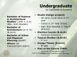 undergraduate by coursework research