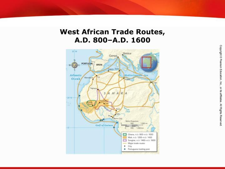 West African Trade Routes, A.D. 800–A.D. 1600