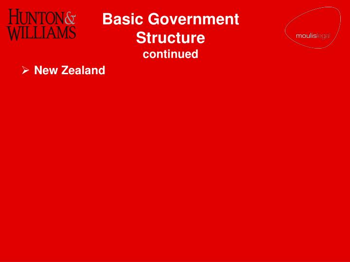 Basic Government Structure
