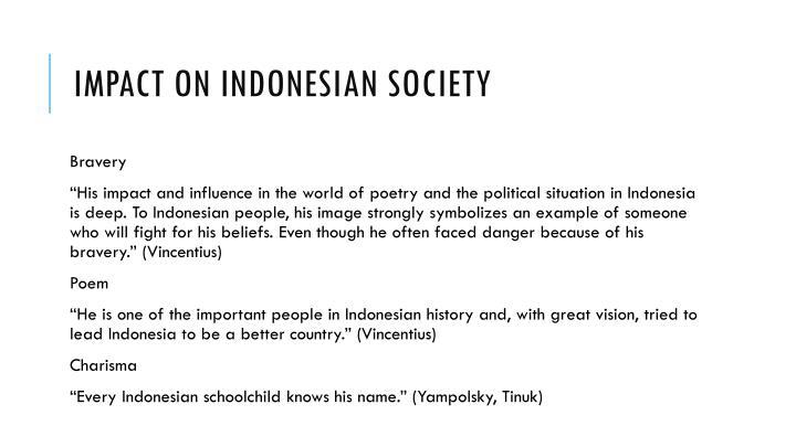 Impact on Indonesian society