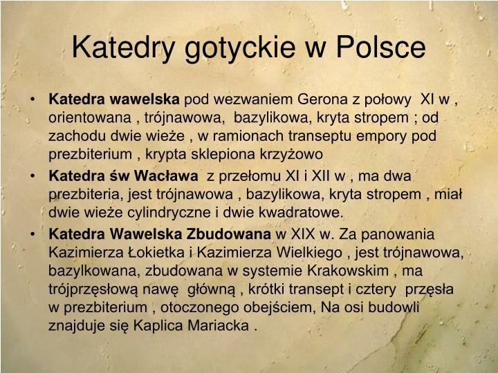 Katedry gotyckie w Polsce