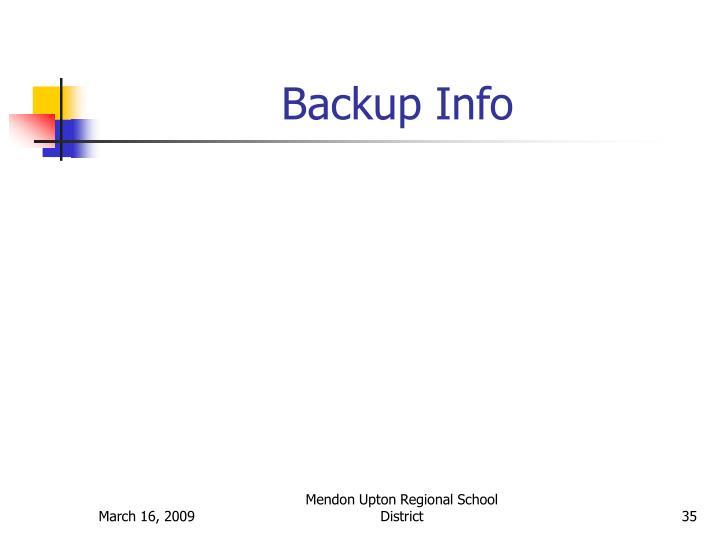 Backup Info