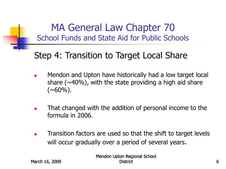 MA General Law Chapter 70