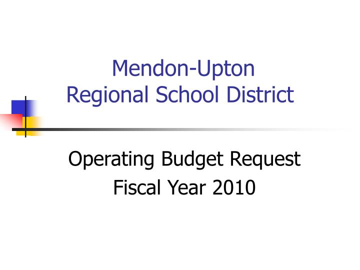 Mendon upton regional school district