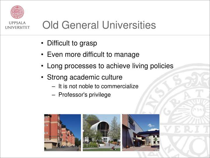 Old General Universities