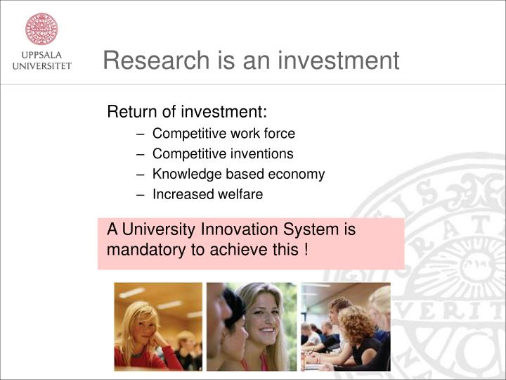 Research is an investment