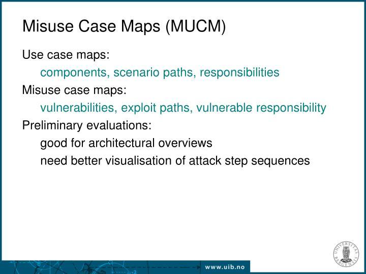 Misuse Case Maps (MUCM)