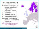 the reqsec project