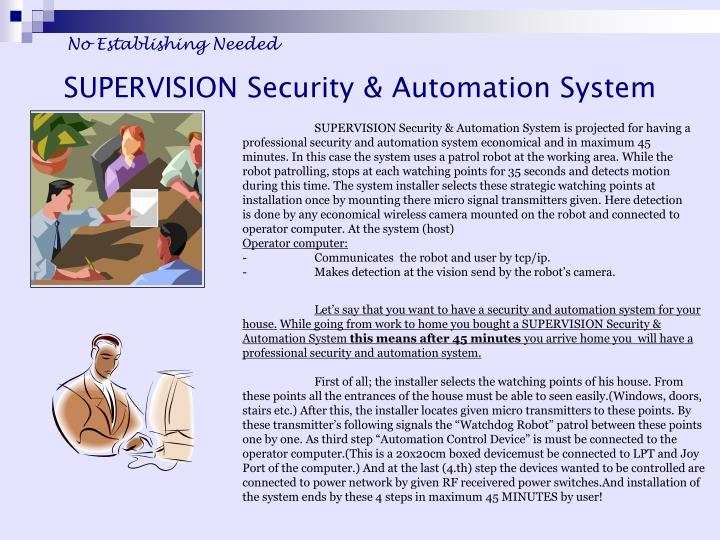 Supervision security automation system1