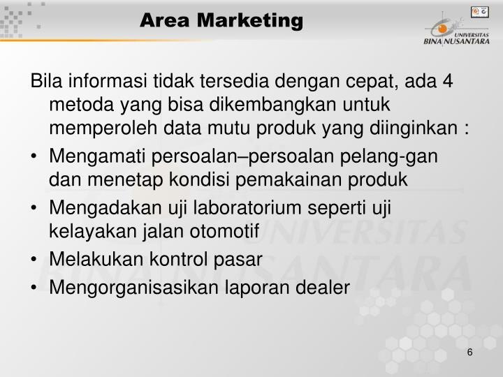 Area Marketing