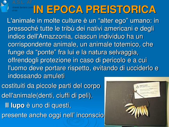 IN EPOCA PREISTORICA
