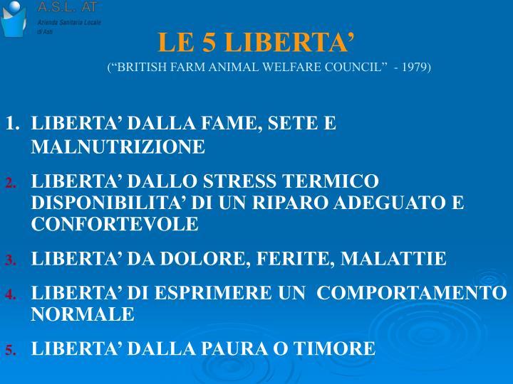 LE 5 LIBERTA'