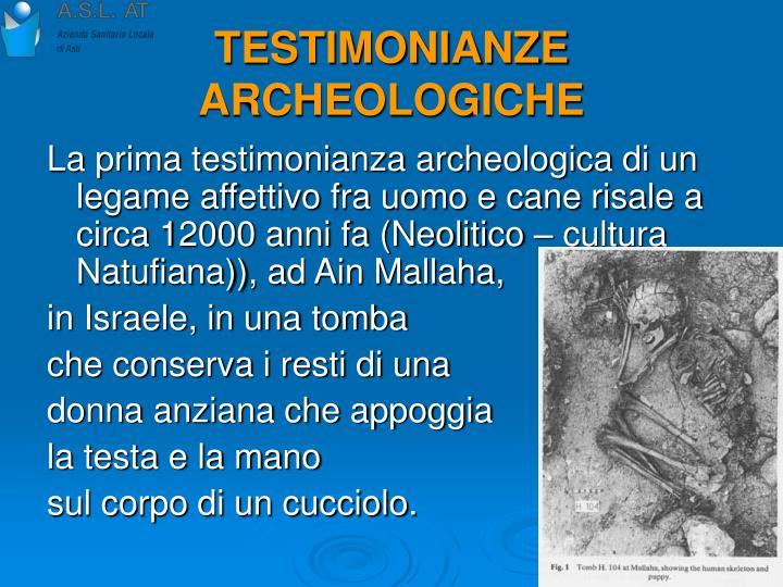 TESTIMONIANZE ARCHEOLOGICHE