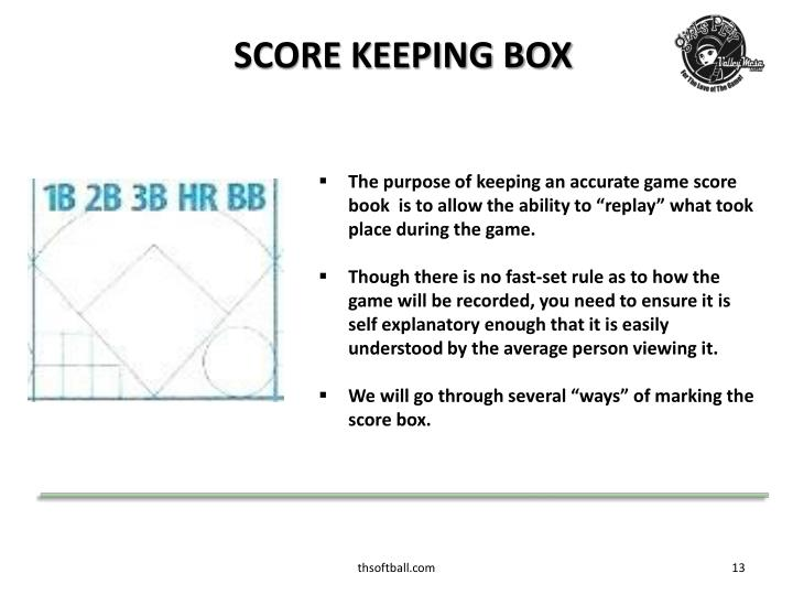 SCORE KEEPING BOX