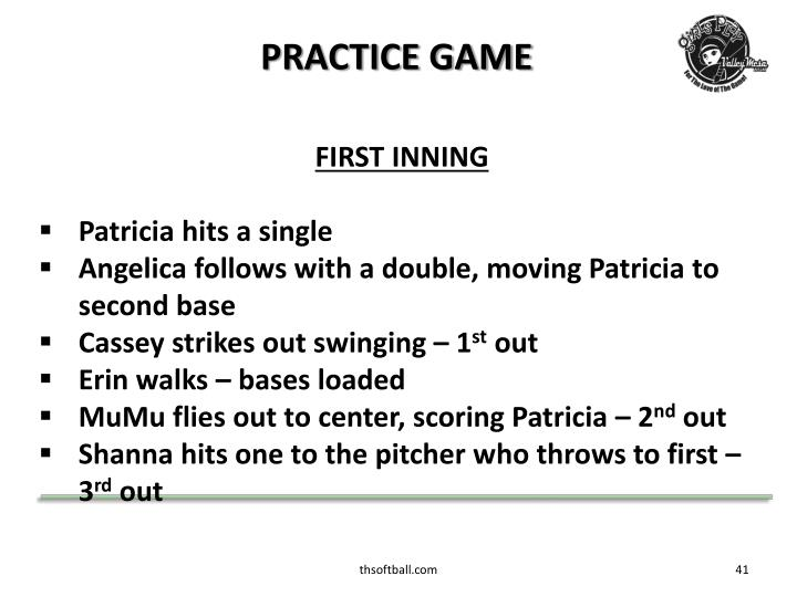 PRACTICE GAME