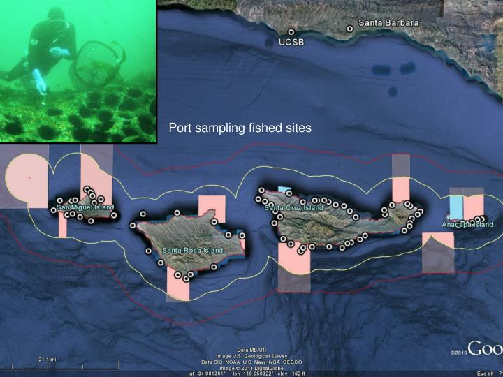 Port sampling fished sites