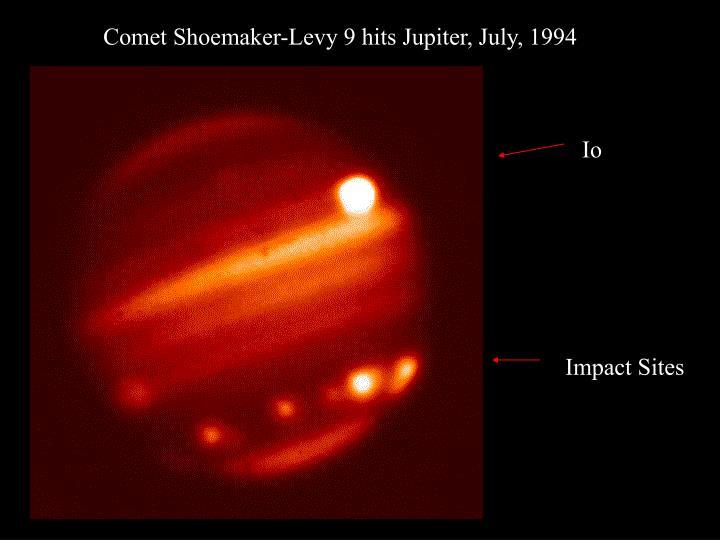 Comet Shoemaker-Levy 9 hits Jupiter, July, 1994