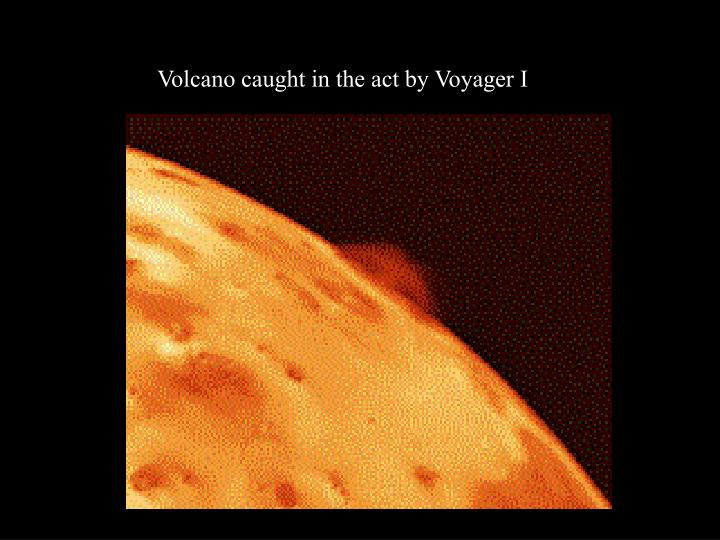 Volcano caught in the act by Voyager I