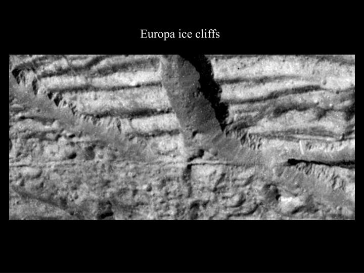 Europa ice cliffs