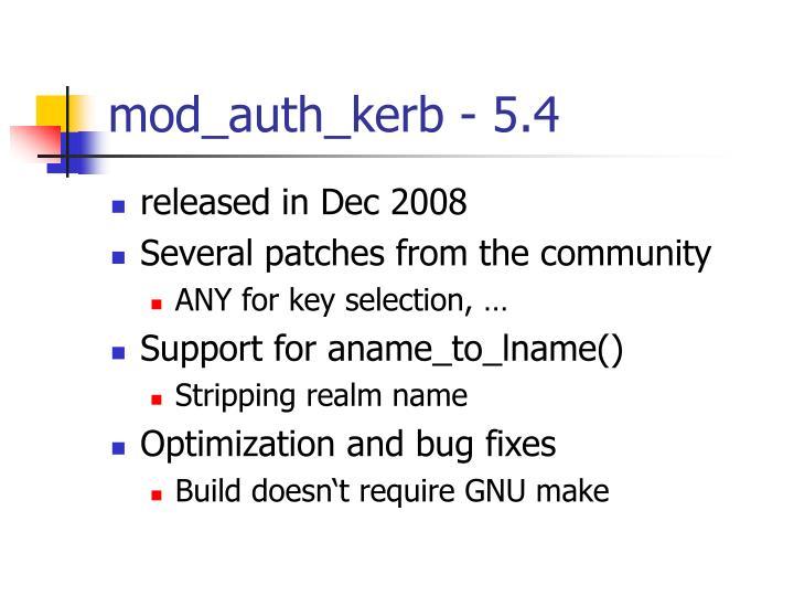 mod_auth_kerb - 5.4