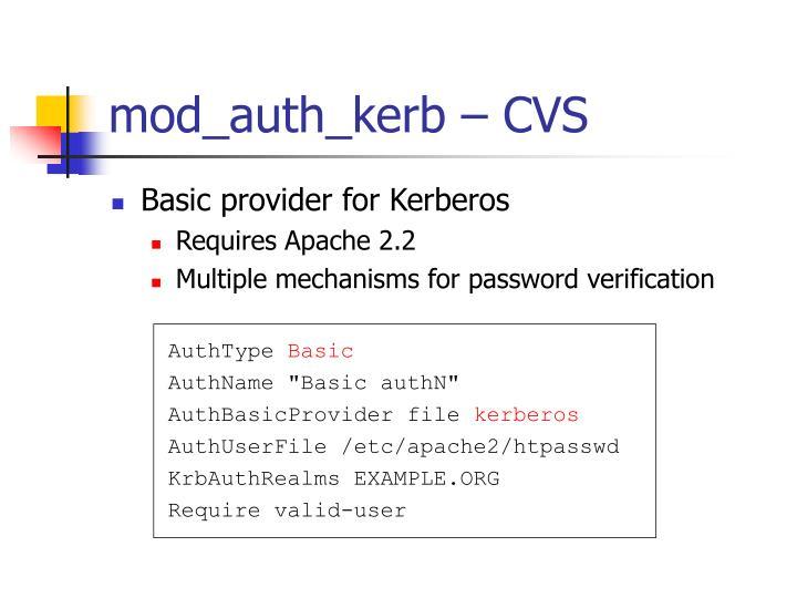 mod_auth_kerb – CVS