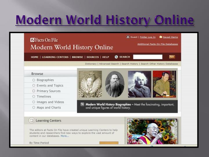 Modern world history online