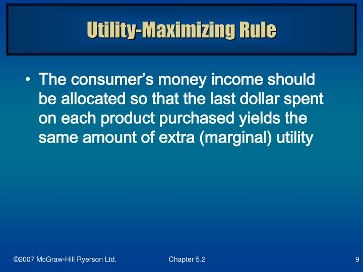 Utility-Maximizing Rule