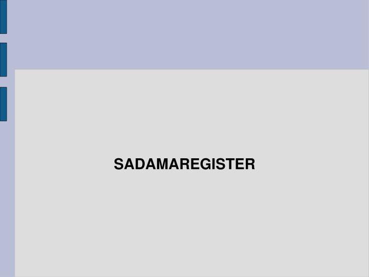 SADAMAREGISTER