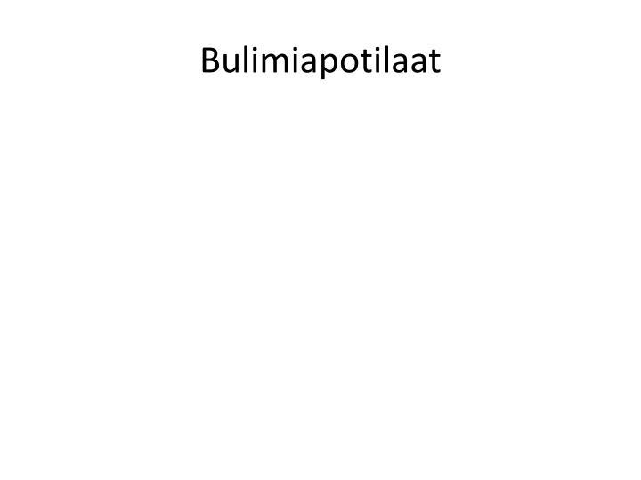 Bulimiapotilaat