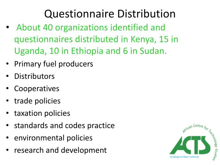 Questionnaire Distribution