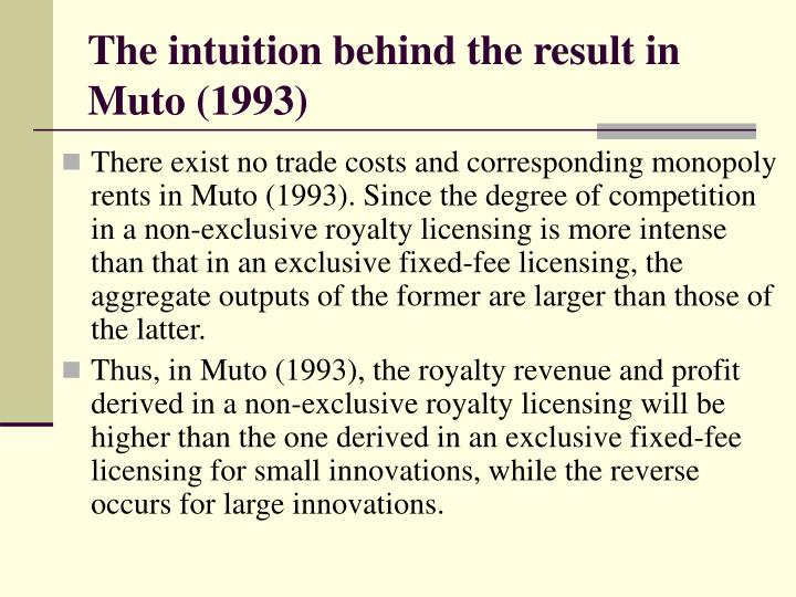 The intuition behind the result in Muto (1993)
