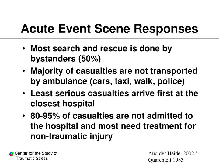 Acute Event Scene Responses