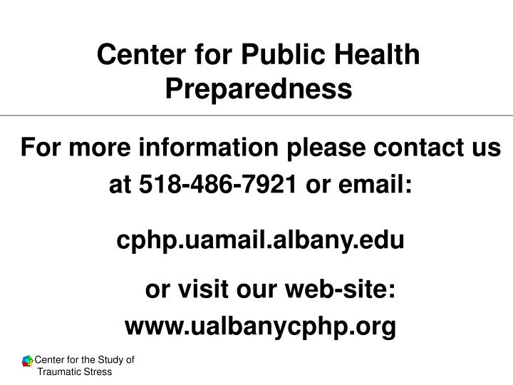 Center for Public Health Preparedness