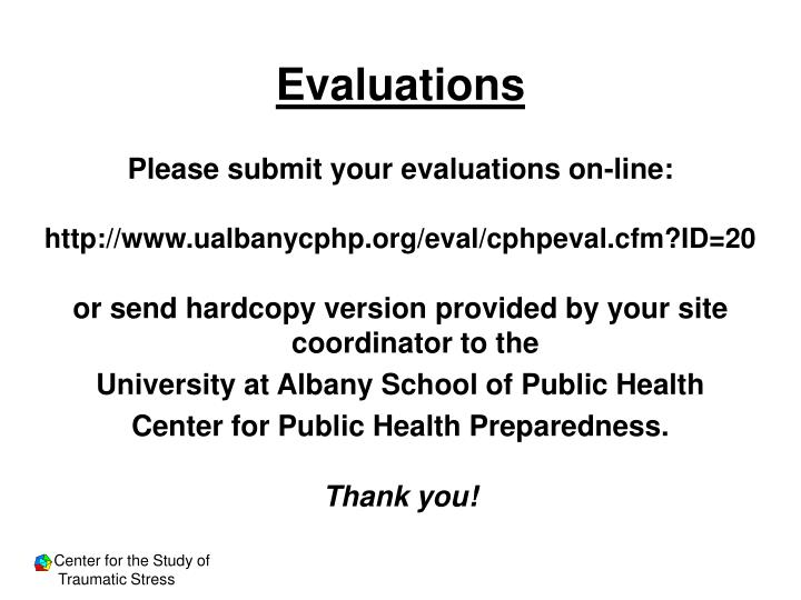 Evaluations