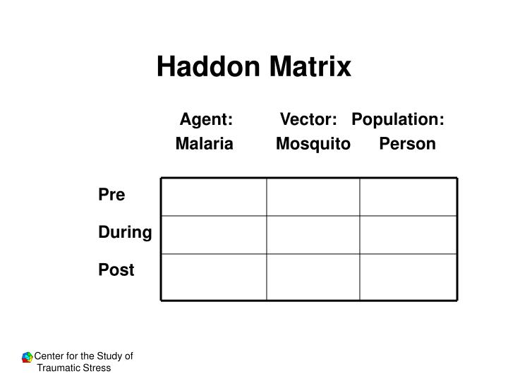 Haddon Matrix