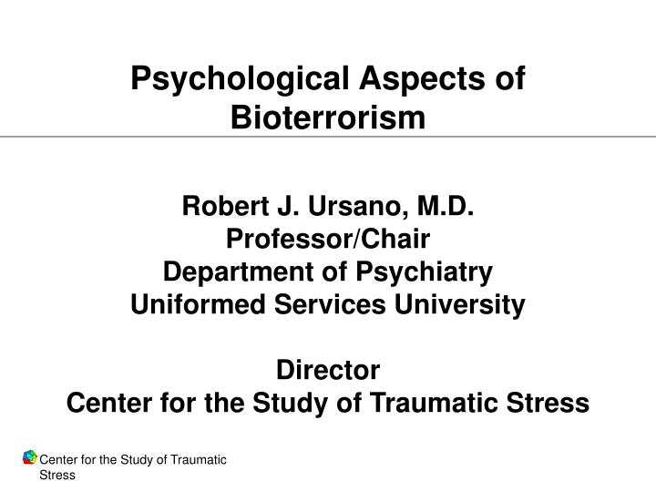 Psychological Aspects of Bioterrorism