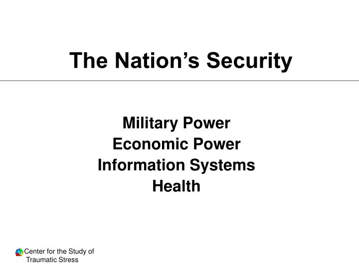 The Nation's Security