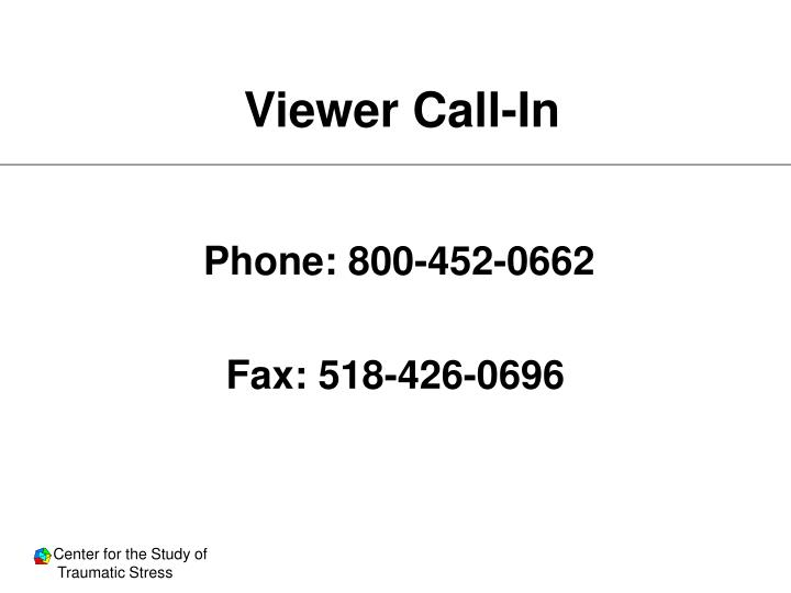 Viewer call in