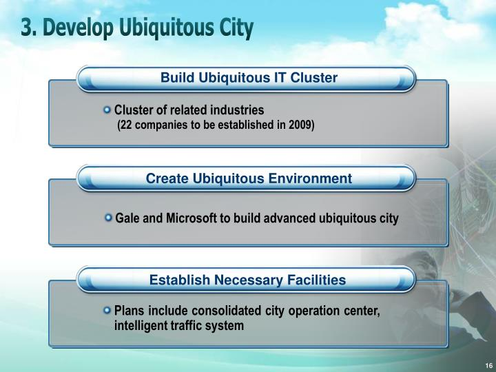 3. Develop Ubiquitous City