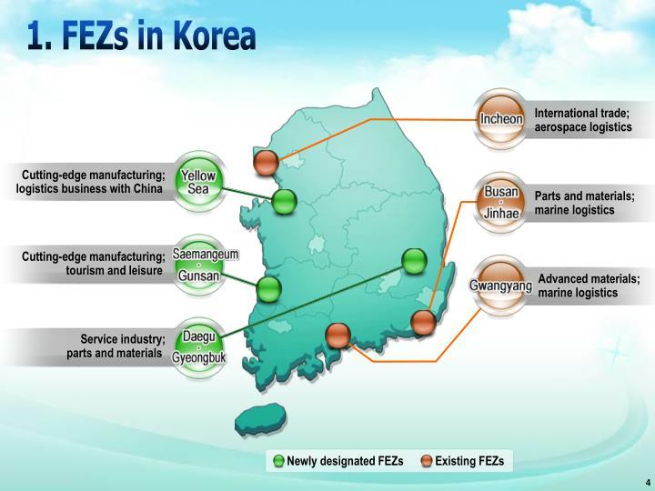 Newly designated FEZs