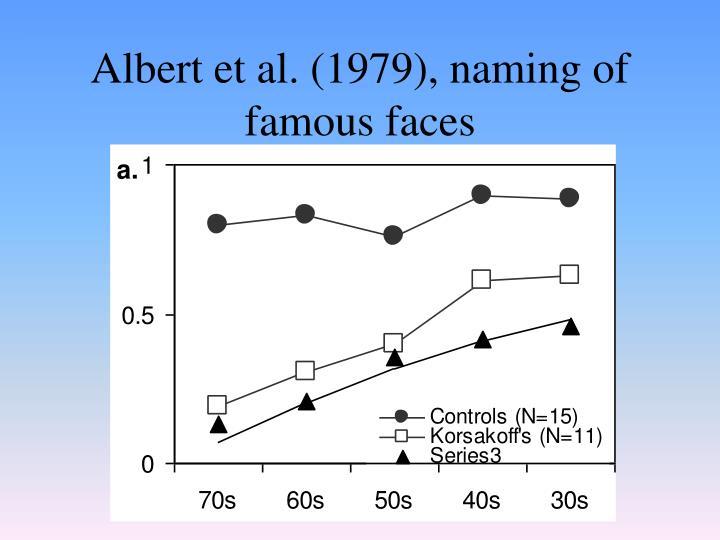 Albert et al. (1979), naming of famous faces