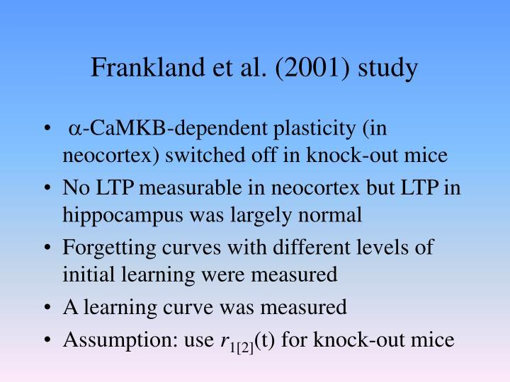 Frankland et al. (2001) study