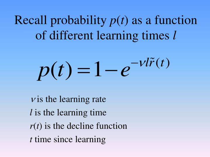 Recall probability