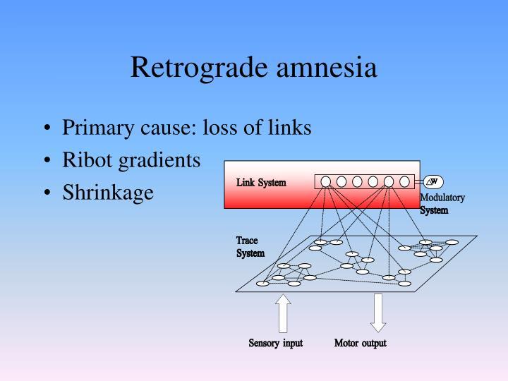 Retrograde amnesia