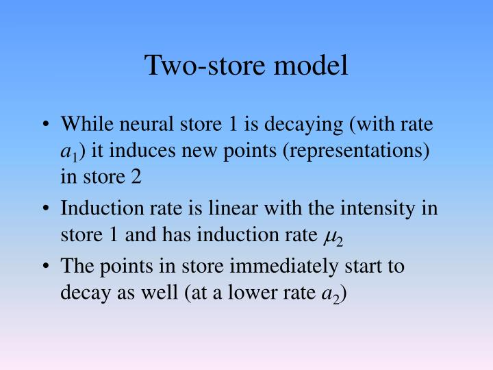 Two-store model