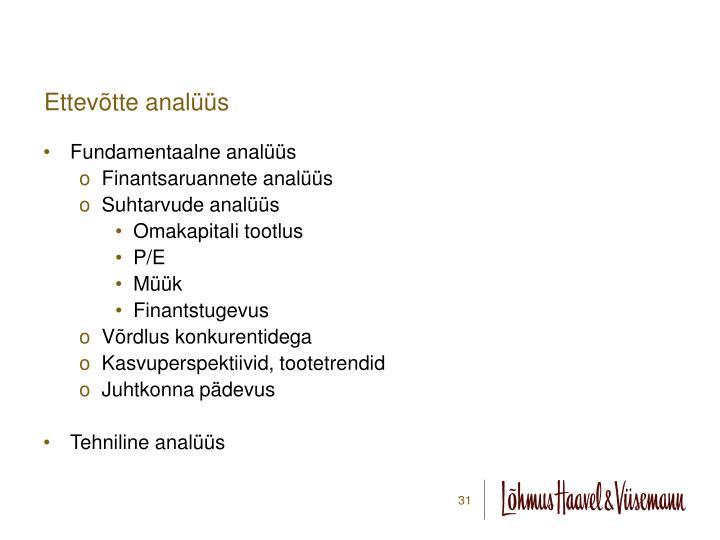 Ettevõtte analüüs