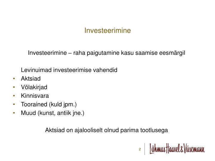 Investeerimine