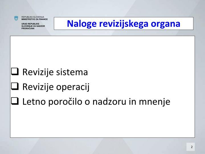 Naloge revizijskega organa