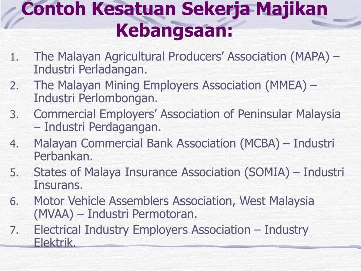 Contoh Kesatuan Sekerja Majikan Kebangsaan: