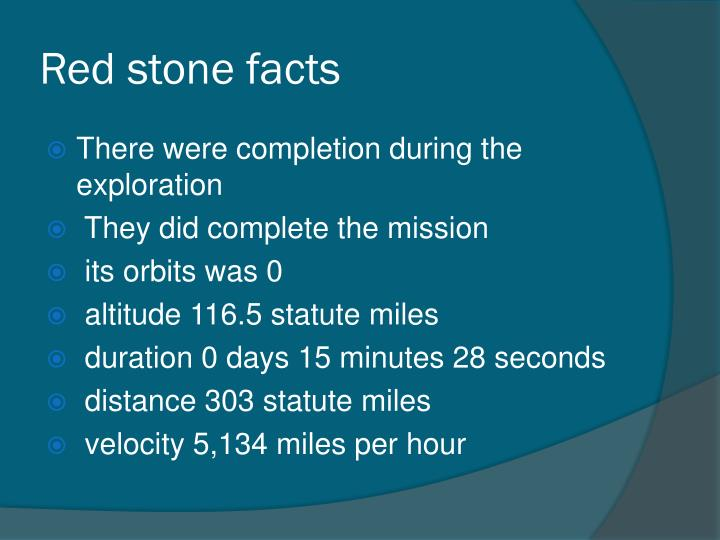 Red stone facts